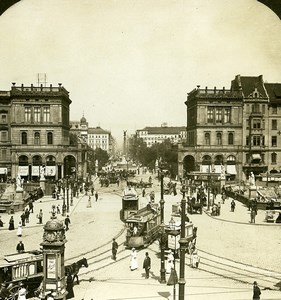 Germany Berlin Place Blucher Blücherplatz Old Photo Stereoview HC White 1900