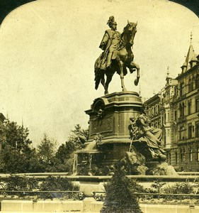 Germany Koln Cologne Kaiser Wilhelm I Monument Old Photo Stereoview White 1900