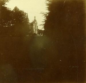 Belgique Brasschaet Chateau Thys Ancienne Stereo Photo Amateur 1919