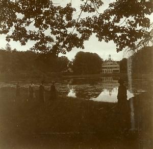 Belgique Brasschaet Polygone Château du Mick ancienne Photo Stereo Amateur 1919