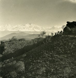 India Sikkim Sikhim Himalaya Kangchenjunga Old Stereo Photo Kurt Boeck 1906