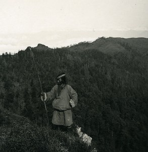 Sikkim Sikhim Himalaya between Sandakphu & Phalut Stereo Photo Kurt Boeck 1906