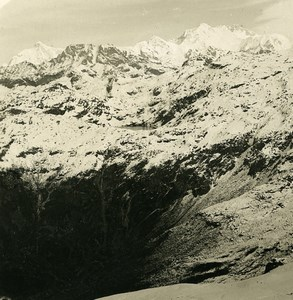 India Sikkim Sikhim Himalaya Singalila Panorama Old Stereo Photo Kurt Boeck 1906