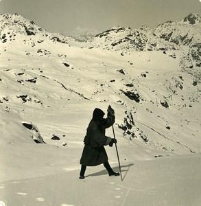 Sikkim Himalaya Everest Gaurishankar Singalila Old Stereo Photo Kurt Boeck 1906