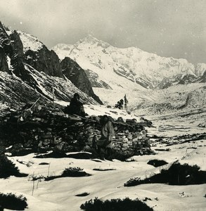 India Sikkim Himalaya Kangchenjunga Panorama Old Stereo Photo Kurt Boeck 1906