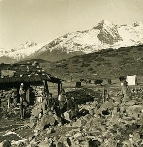 Sikkim Himalaya Base Camp Dzongri Dschongri Peak Stereo Photo Kurt Boeck 1906