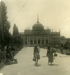 Inde Lucknow Palais Qaisar Bagh ancienne Stereo Photo Kurt Boeck 1906
