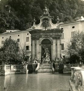 Austria Salzburg Kapitelplatz Pferdeschwemme Old Stereo Photo Wurthle 1900