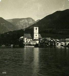 Austria Salzkammergut St Wolfgang Old Stereo Photo Wurthle 1900