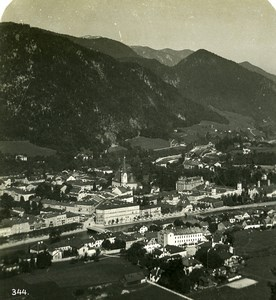 Austria Salzkammergut Bad Ischl Trauntal Valley Old Stereo Photo Wurthle 1900
