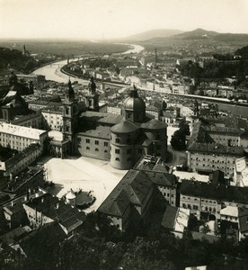 Austria Salzburg view from Festung Old Stereo Photo Wurthle 1900