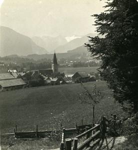 Austria Steiermark Styria Altaussee Dachstein Old Stereo Photo Wurthle 1900