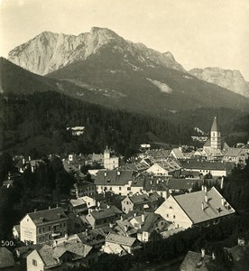 Austria Steiermark Styria Aussee from Sixleithen Old Stereo Photo Wurthle 1900