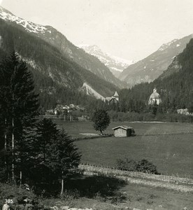 Austria Gastein Bocksteiner Tal Valley Old Stereo Photo Wurthle 1900