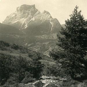 Italy Dolomites Alpes Ampezzan le mont Pelmo ancienne Stereo Photo NPG 1900
