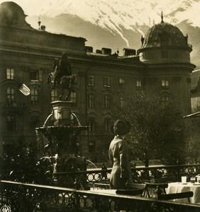 Autriche Tyrol Innsbruck Château ancienne Stereo Photo NPG 1900