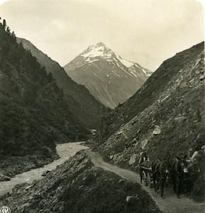 Autriche Tyrol Heil Kreuz Vent Terleitspitze Talleitspitze ancienne Stereo Photo NPG 1900
