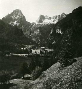 Austria Salzkammergut Langbathsee Ebensee Old Stereo Photo Photobrom 1900