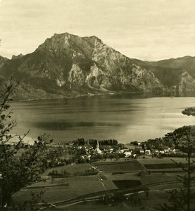 Austria Salzkammergut Altmünster Lake Old Stereo Photo Photochrom 1900