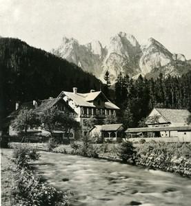 Austria Salzkammergut Gosauschmied Donnerkogel Old Stereo Photo Photobrom 1900