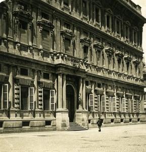 Italie Milan Palais Municipal Palazzo Municipale ancienne Photo Stereo NPG 1900