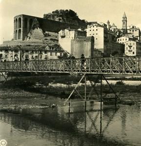 Italie Vintimille Ventimiglia vue générale pont ancienne Photo Stereo NPG 1900