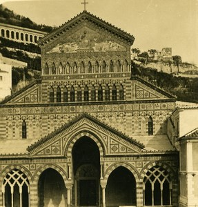 Italy Amalfi cathedral Old NPG Stereo Photo 1900