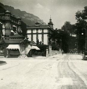 Switzerland Interlaken Hoherweg Highway Old Stereo Photo 1900