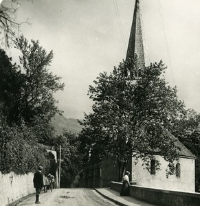 Switzerland Montreux Eglise des Planches Church Old Stereo Photo 1900