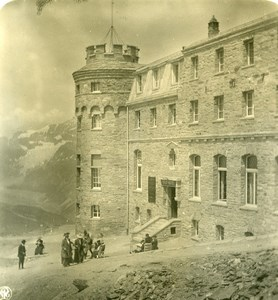Suisse Zermatt Hotel Gornergrat ancienne Stereo Photo NPG 1900