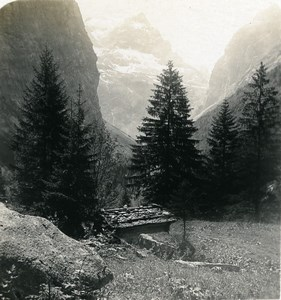 Switzerland Glarnerland Panorama Tödi Old Stereo Photo Wehrli 1900
