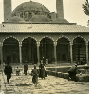 Middle East Syria Damascus Mosque Old NPG Stereo Photo 1900