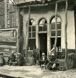 Middle East Syria Damascus Café Bar Old Stereo Photo NPG 1900