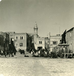 Middle East Palestine Bethlehem Market Old NPG Stereo Photo 1900