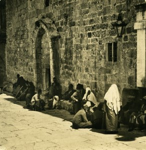 Middle East Palestine Bethlehem Church of the Nativity Old NPG Stereo Photo 1900