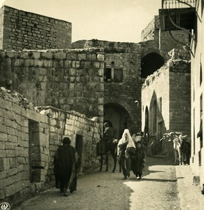 Middle East Palestine Bethlehem a street Old NPG Stereo Photo 1900