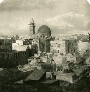 Middle East Israel Jerusalem The Jewish Quarter Old Stereo Photo 1900