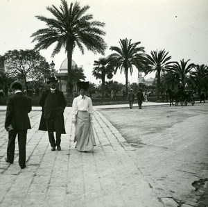France Nice Place Massena Fashion Old Amateur Stereo Photo Possemiers 1900