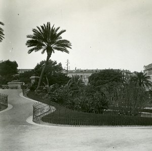 France Nice Public garden terrace Old Amateur Stereo Photo Possemiers 1900