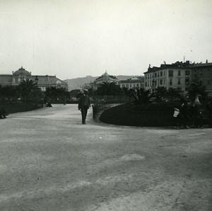 France Nice Jardin Public vers avenue Mac Mahon ancienne Photo Stereo Amateur Possemiers 1900