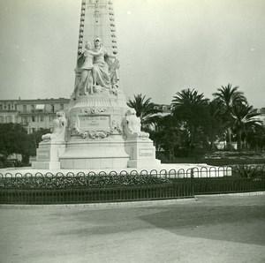 France Nice monument du Centenaire ancienne Photo Stereo Amateur Possemiers 1900
