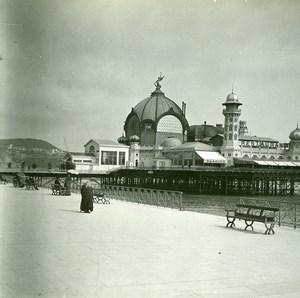 France Nice Casino de Mer ancienne Photo Stereo Amateur Possemiers 1900
