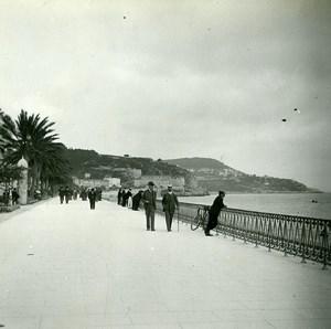 France Nice le Quai du Midi ancienne Photo Stereo Amateur Possemiers 1900
