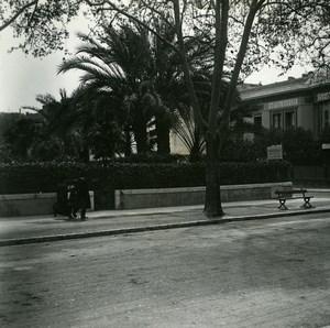 France Nice un coin de rue Hotel ancienne Photo Stereo Amateur Possemiers 1900