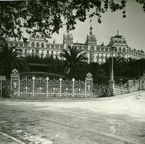 France Nice Cimiez Excelsior Hotel Regina Amateur Stereo Photo Possemiers 1900