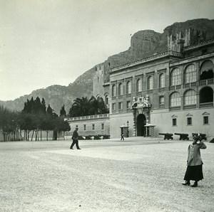 Monaco Castle Façade Old Amateur Stereo Photo Possemiers 1900
