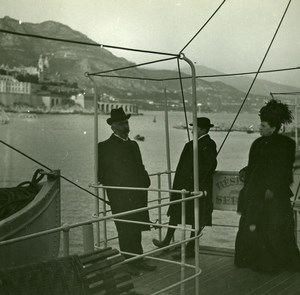 Monaco Harbor Old Amateur Stereo Photo Possemiers 1900