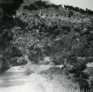 France Grande Corniche road Old Amateur Stereo Photo Possemiers 1900