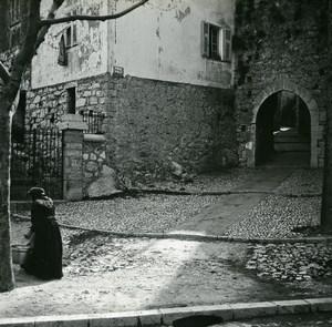 France La Turbie Roman Gate Old Amateur Stereo Photo Possemiers 1900
