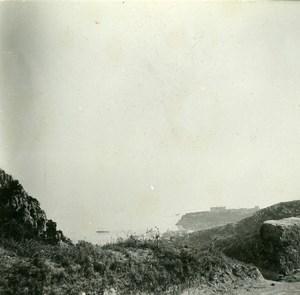 France Grande Corniche Casino View Old Amateur Stereo Photo Possemiers 1900